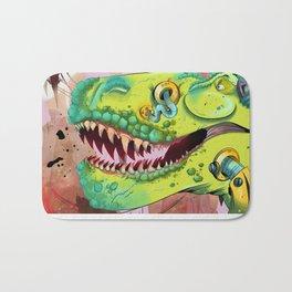 Sci-fi Dinosaur. Bath Mat