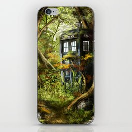 Doctor Who - Tardis in the Woods iPhone Skin