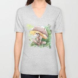Empire of Mushrooms: Boletus Edulis Unisex V-Neck