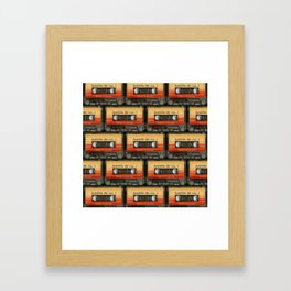 awesome transparent mix cassette tape vol 1 Framed Art Print