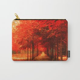 Tree Alley Autumn painted Carry-All Pouch