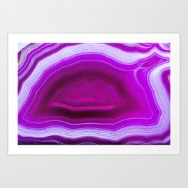 Pink agate Geode Art Print