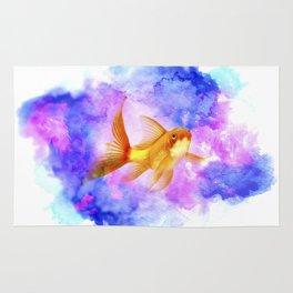 Watercolor Goldfish Rug