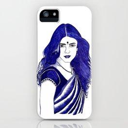 women in saree iPhone Case