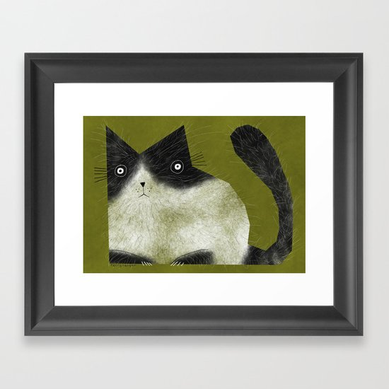 BRISTLE CAT Framed Art Print