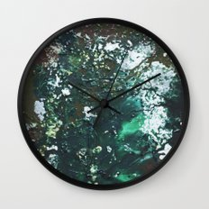 Green abstract liquidity. Wall Clock