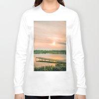 running Long Sleeve T-shirts featuring Running clouds by Svetlana Korneliuk