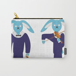 Blue hare violinist Carry-All Pouch