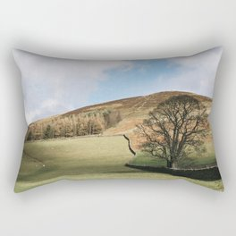 Sunlit tree and hillside. Edale, Derbyshire, UK. Rectangular Pillow