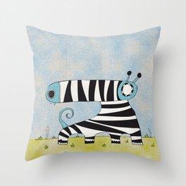 Blue Mummynimal Throw Pillow