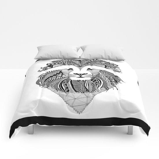 Lion - dark Comforters