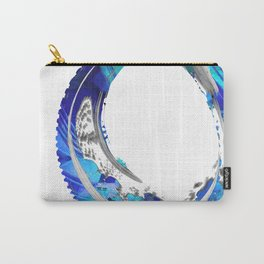 White And Blue Abstract Art - Swirling 4 - Sharon Cummings Carry-All Pouch