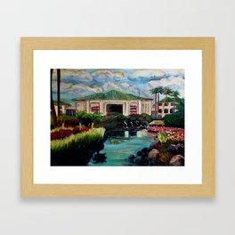 Kauai Grand Hyatt Resort Framed Art Print