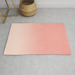 Coral ombre trendy girly trend college life dorm decor office minimalism Rug