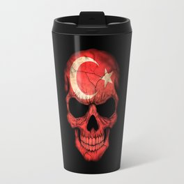 Dark Skull with Flag of Turkey Travel Mug