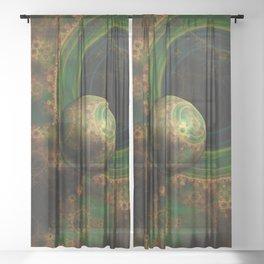 TikTok's Four-Dimensional Steampunk Time Contraption Sheer Curtain
