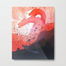 Dragon sunrise Metal Print