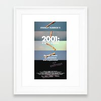 2001 a space odyssey Framed Art Prints featuring 2001: a space odyssey by Lucas Preti