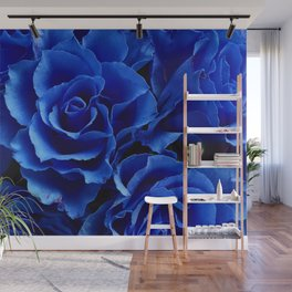 Blue Roses Flowers Plant Romance Wall Mural