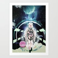 2001 a space odyssey Art Prints featuring 2001: A Space Odyssey by Andreea Benu