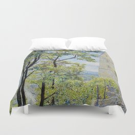 Spring in the old city Duvet Cover