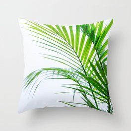 Palm leaves paradise Throw Pillow