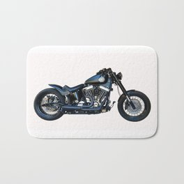 black motorcycle isolated Bath Mat