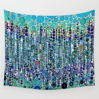 martini Wall Tapestries featuring :: Blue Raspberry Martini :: by :: GaleStorm Artworks ::