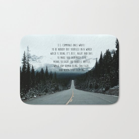 Quote for The Road Bath Mat