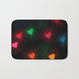Hearts of Color Bath Mat
