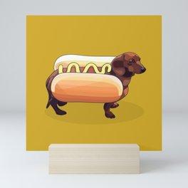 Dachshund Wiener Hot Dog Mini Art Print