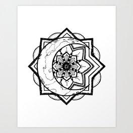 Mandala Moon Art Print