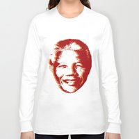 mandela Long Sleeve T-shirts featuring NELSON MANDELA by mark ashkenazi