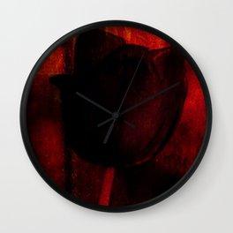 Venus Rose Red Wall Clock
