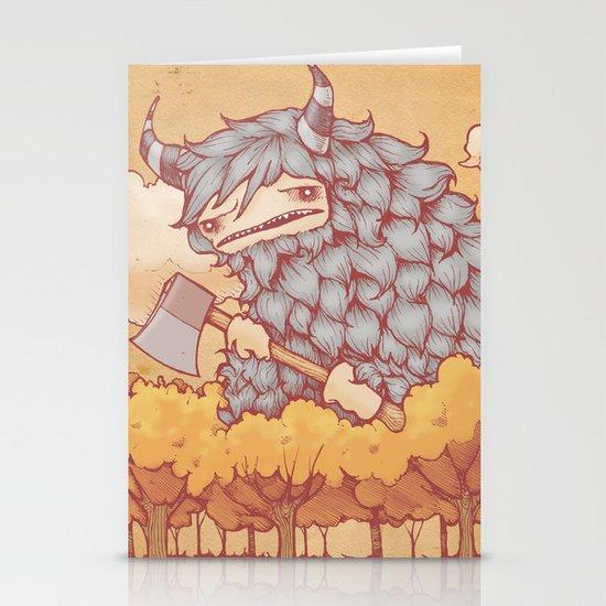 巨大的柴夫 (Great Firewood Husband) Stationery Cards