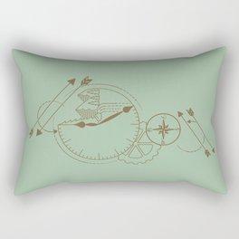 Vintage Time for Adventure Rectangular Pillow