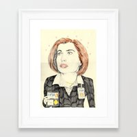 scully Framed Art Prints featuring scully by withapencilinhand