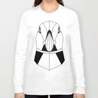 puffin Long Sleeve T-shirts featuring Polygon Puffin by Beard and Bones