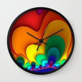 Colorful Fractals Art Shapes Wall Clock
