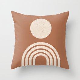Mid century modern terracotta Throw Pillow