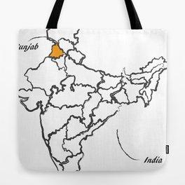 Map of India Tote Bag