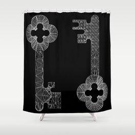 CASTLE KEYS b/w Shower Curtain