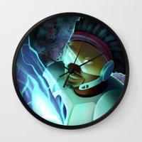 big hero 6 Wall Clocks featuring Big Hero 6- Wasabi by prpldragon