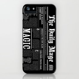 The Daily Mage Fantasy Newspaper II iPhone Case