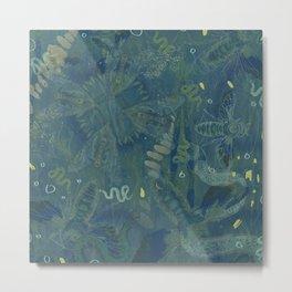 Interlacing Insecta Metal Print
