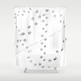 Animal Tracks of North America Shower Curtain