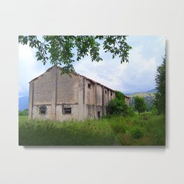 ABANDONED BUILDING IN SOUTH ITALY. Metal Print