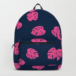 Pink leaves Backpack
