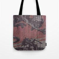 fight Tote Bags featuring Fight by Last Call