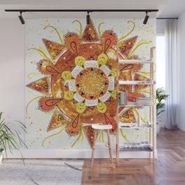 Sun Mandala Wall Mural